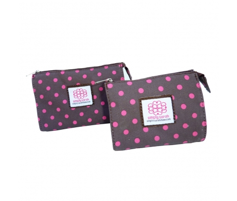 Small Cosmetic Bag, Signature Dot made by Patterned Travel Gear .