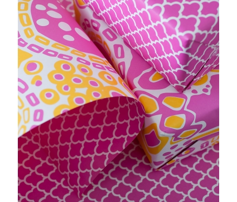 Double-Sided Pomelo Gift Wrap made by Smock Paper Stationary .
