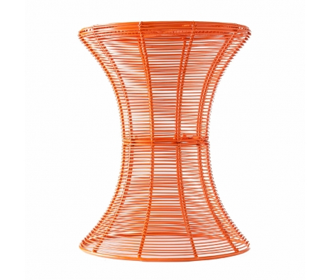 Pembrook Metal Accent Table, Orange made by SEI.