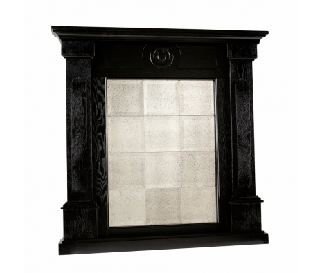 Harding Mirrored Mantel Façade, Black  made by Modern Living .