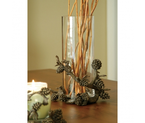 "14"" Pine Cone Vase made by Rustic Lodge."