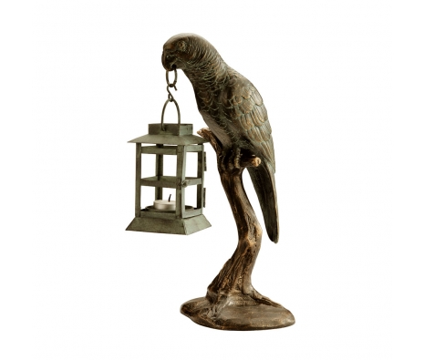 "14.5"" Parrot Lantern made by Rustic Lodge."