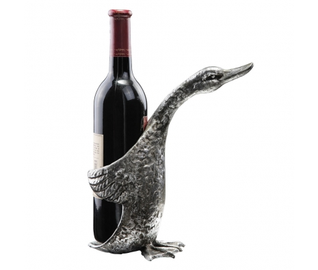 "9"" Duck Wine Bottle Holder made by Rustic Lodge."