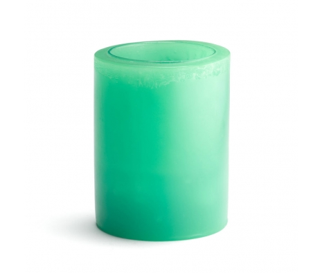 "Set of 2 3"" x 6"" Solid Flameless Candles, Turquoise made by Luminaries & Agates."