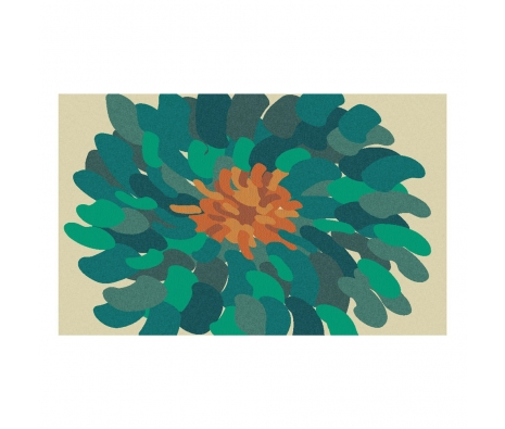 3' x 5' Bombay Bloom Rug, Teal made by Summertime Decor .