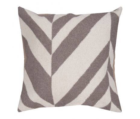"18"" x 18"" Geometric Stripe Pillow, Winter White made by Jill Rosenwald Rugs & Accent Pillows."