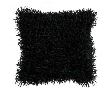 "18"" x 18"" Shag Pillow, Jet Black made by Jill Rosenwald Rugs & Accent Pillows."
