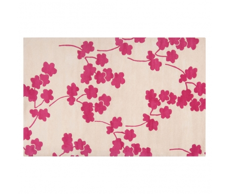 5' x 8' Jill Rosenwald Poppy Rug, Raspberry made by Jill Rosenwald Rugs & Accent Pillows.