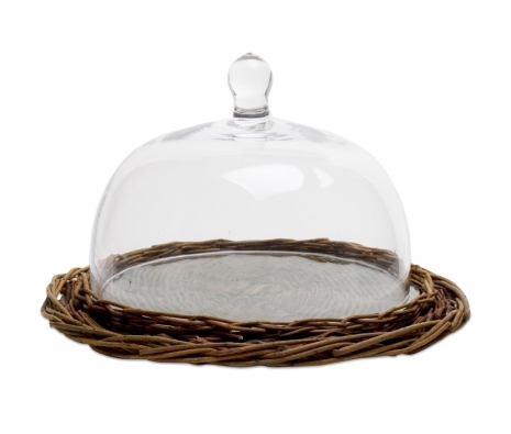 Hand-woven Serving Dome, Large made by Garden Party Hostess.