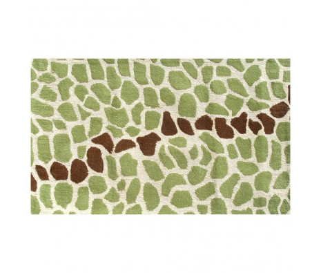 4.7' x 7.7' Stark Rug, Green  made by Bright & Bold Rugs.