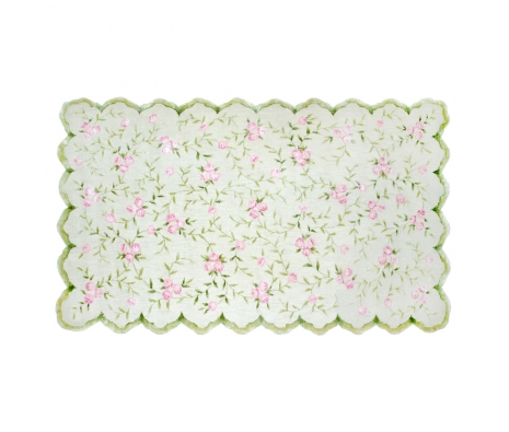 4.7' x 7.7' Rumney Rug, Green  made by Bright & Bold Rugs.