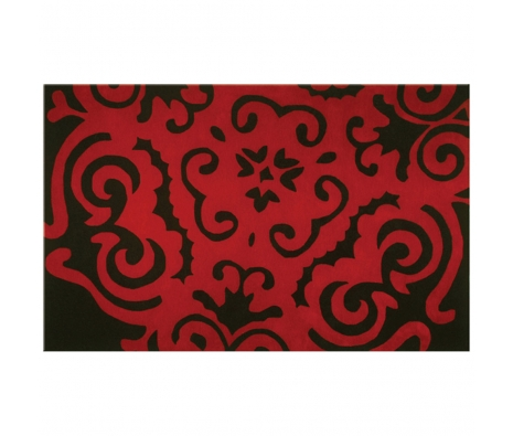 5' x 8' Frazee Rug, Black/Red made by Rugs Under $500.