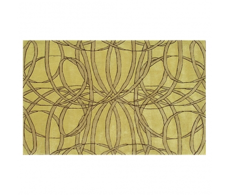 5' x 8' Sullivan Rug, Gold  made by Bright & Bold Rugs.