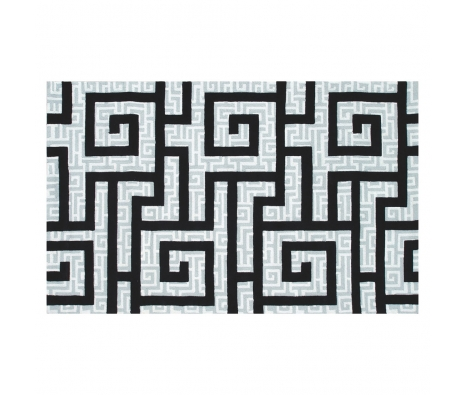 5' x 8' Benton Rug, Black  made by Bright & Bold Rugs.
