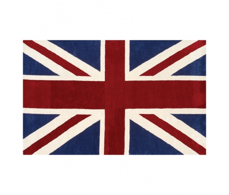 5' x 8' Union Jack Rug, Red made by Bright & Bold Rugs.