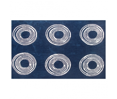 5' x 8' Newport Rug, Navy  made by Bright & Bold Rugs.