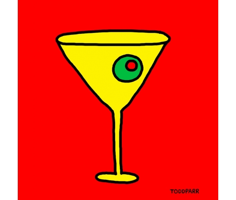 Mad Men Martini, Red  made by Todd Parr Exclusive.