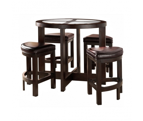 5-Piece Egan Dining Set, Espresso  made by Home Origin.