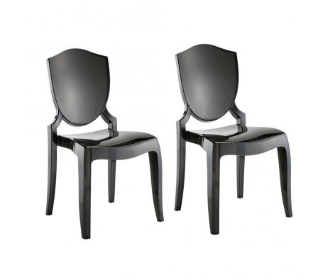 Set of 2 Ghost Chairs, Graphite made by Home Origin.