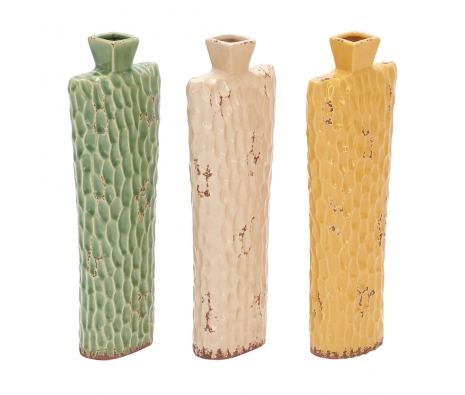Set of 3 Montpellier Ceramic Vases made by Parisian Market .