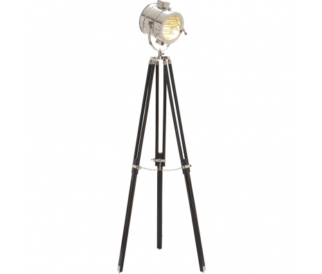 "70"" Paddock Wooden Metal Floor Lamp made by Glamour House."