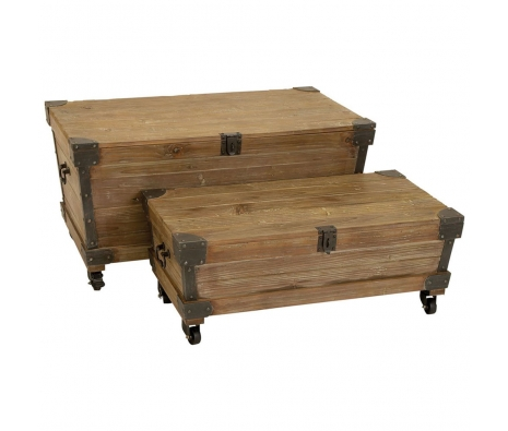 Set of 2 Cirque Metal Trunks made by American Tradition.