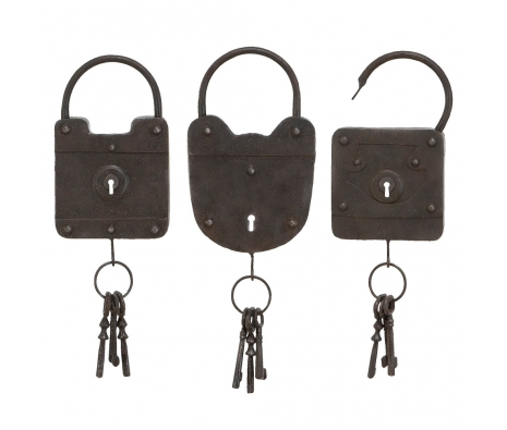 Set of 3 Metal Locks made by Countryside Finds.