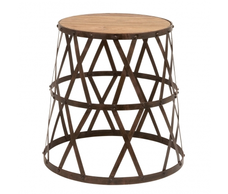 Tilla Metal & Wood Stool made by Countryside Finds.