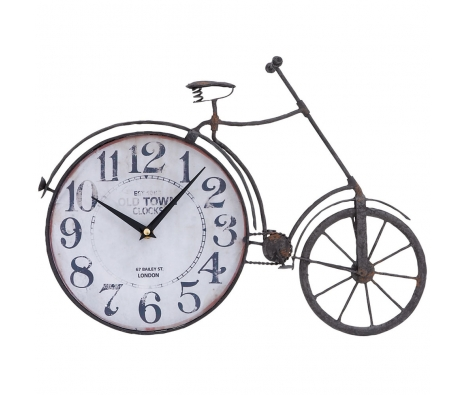 "12"" Metal Bicycle Clock made by Nostalgic Finds ."
