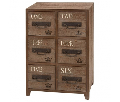 6-Drawer Chester Wooden Cabinet made by American Tradition.