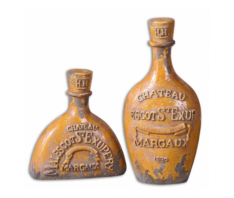 Chateau Bottles, Set of 2 made by Provencal Home Decor .