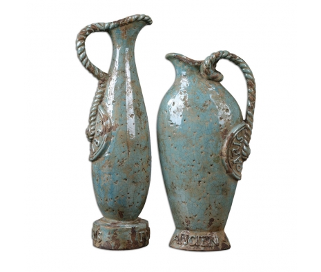 Freya Vases, Set of 2 made by Provencal Home Decor .