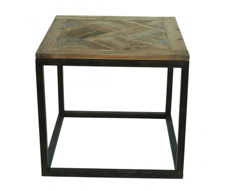Reclaimed Pine Accent Table made by White x White.