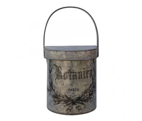 Botanical Wall Bucket with Lid made by White x White.