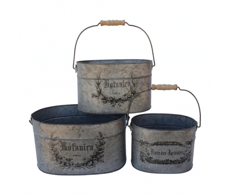 Decorative French Buckets, Set of 3 made by White x White.