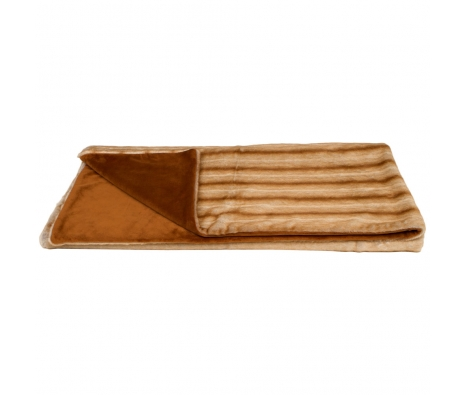 "Beaver 3"" Mink Faux Fur Throw made by Wilhelmina Jacobs ."