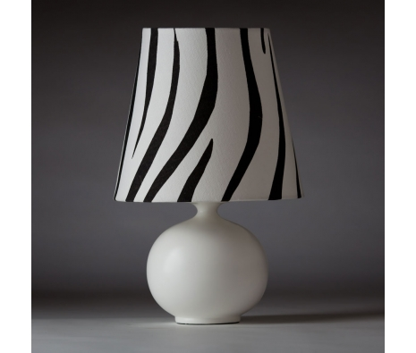 "14"" Zaida Zebra Table Lamp made by Ziqi Lighting ."