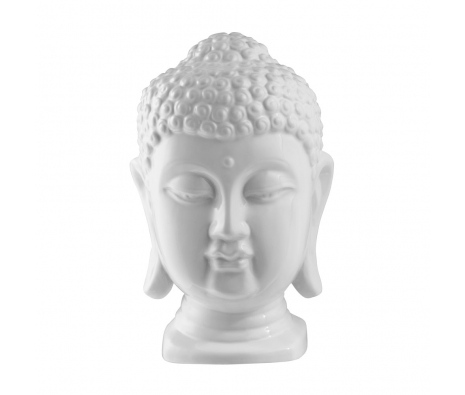 Buddha Head, Shiny White made by Avant-Garde Accessories .