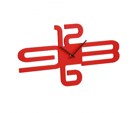 Bennett Wall Clock, Red made by Avant-Garde Accessories .