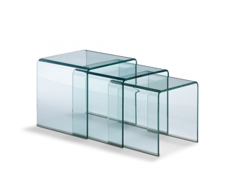 Dupont Nesting Tables, Clear made by Avant-Garde Accessories .