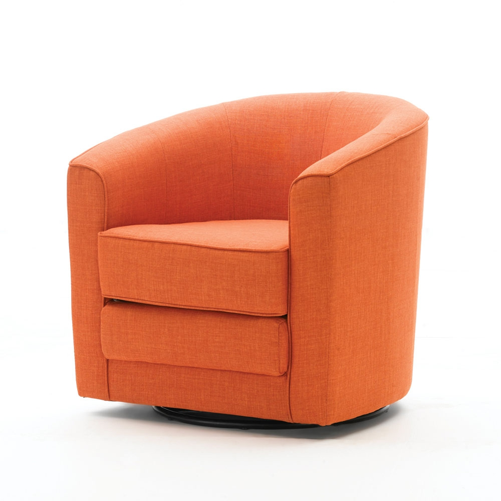 Lifestyle Barrel Swivel Chair Orange Made By Home Barrel Swivel Chair