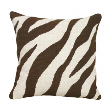 Brown Zebra Needlepoint Pillow