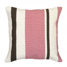 Pink Stripes Needlepoint Pillow