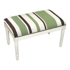 Green Stripes Needlepoint Bench