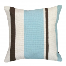 Blue Stripes Needlepoint Pillow