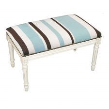 Blue Stripes Needlepoint Bench