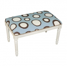 Blue Dots Needlepoint Bench