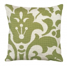 Green Damask Needlepoint Pillow