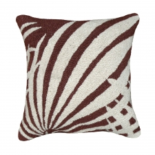 Brown Palm Needlepoint Pillow
