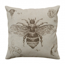 Bee Study Linen Pillow